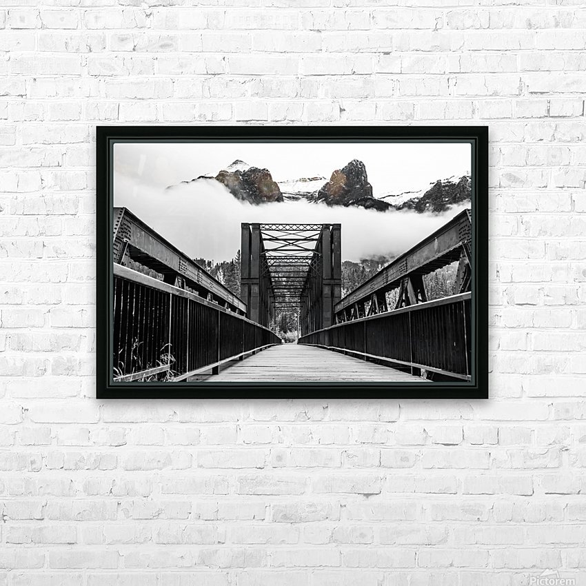 Canmore Iconic Engine Bridge HD Sublimation Metal print with Decorating Float Frame (BOX)