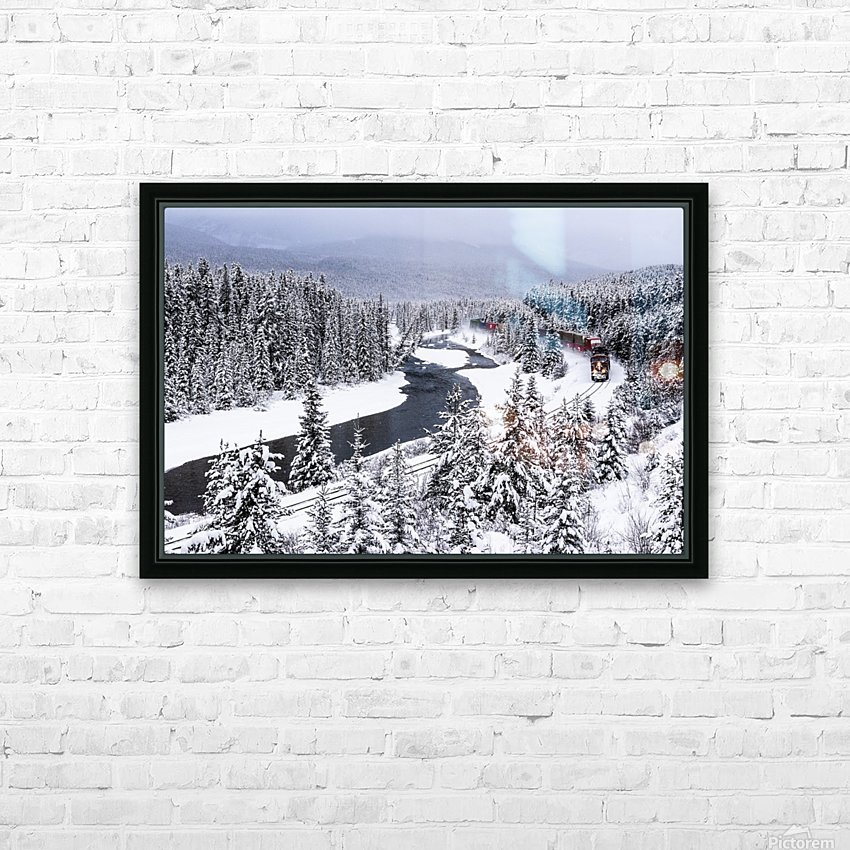 Morants Curve  Banff National Park HD Sublimation Metal print with Decorating Float Frame (BOX)