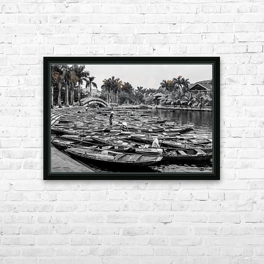 Boats in the river of Vietnam HD Sublimation Metal print with Decorating Float Frame (BOX)