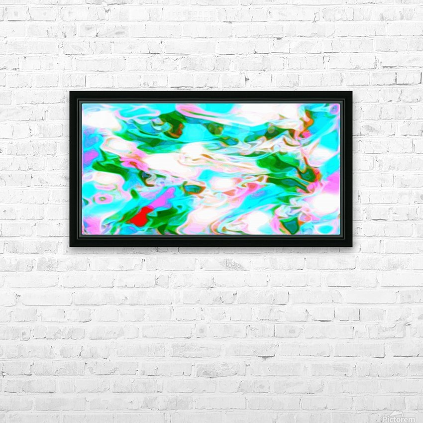 Angelic High - white blue red pink multicolor swirl abstract wall art HD Sublimation Metal print with Decorating Float Frame (BOX)