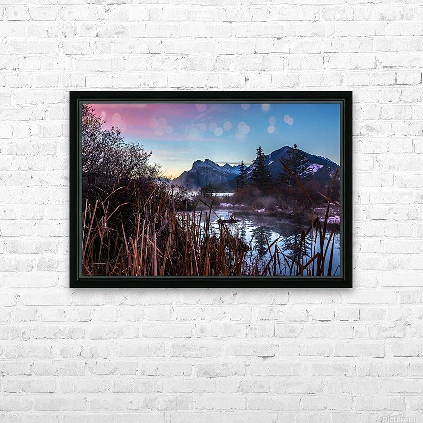 Vermilion Lakes Mist HD Sublimation Metal print with Decorating Float Frame (BOX)