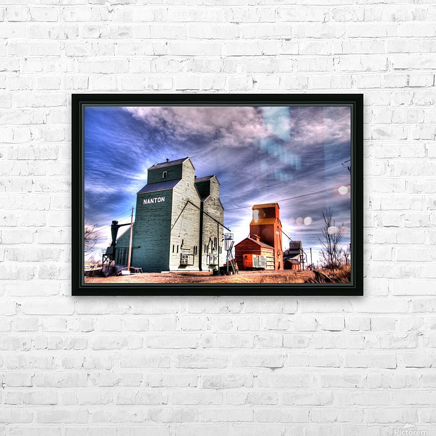 Grain Elevators in Nanton Alberta HD Sublimation Metal print with Decorating Float Frame (BOX)