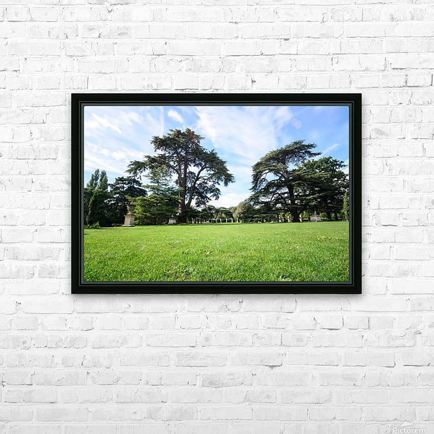Summer London park HD Sublimation Metal print with Decorating Float Frame (BOX)