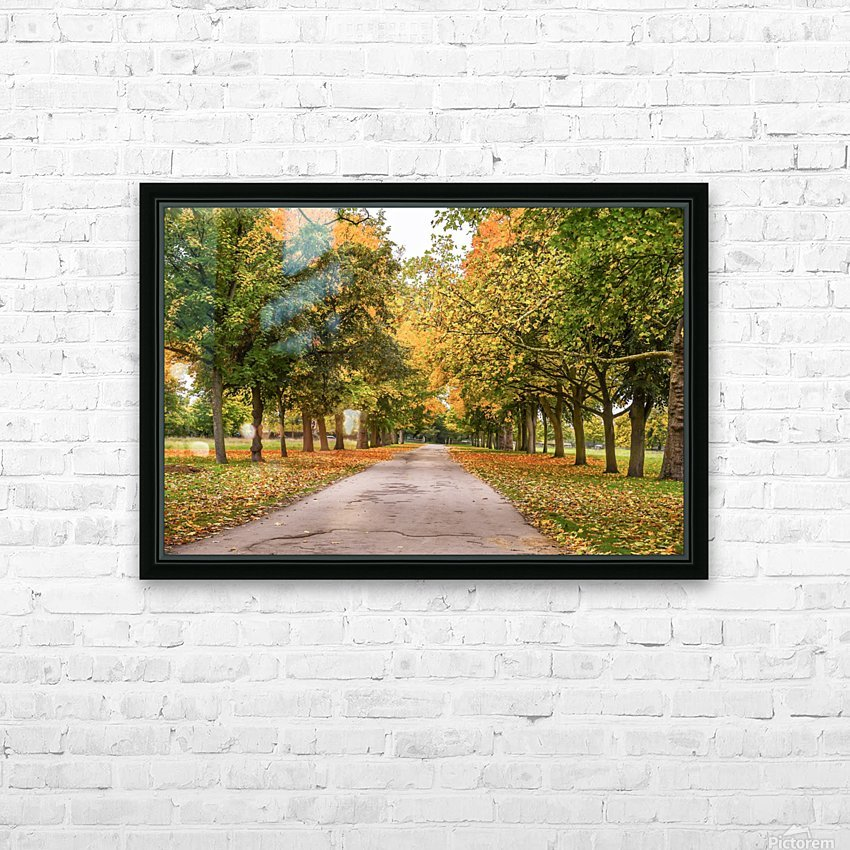 Autumn colours HD Sublimation Metal print with Decorating Float Frame (BOX)