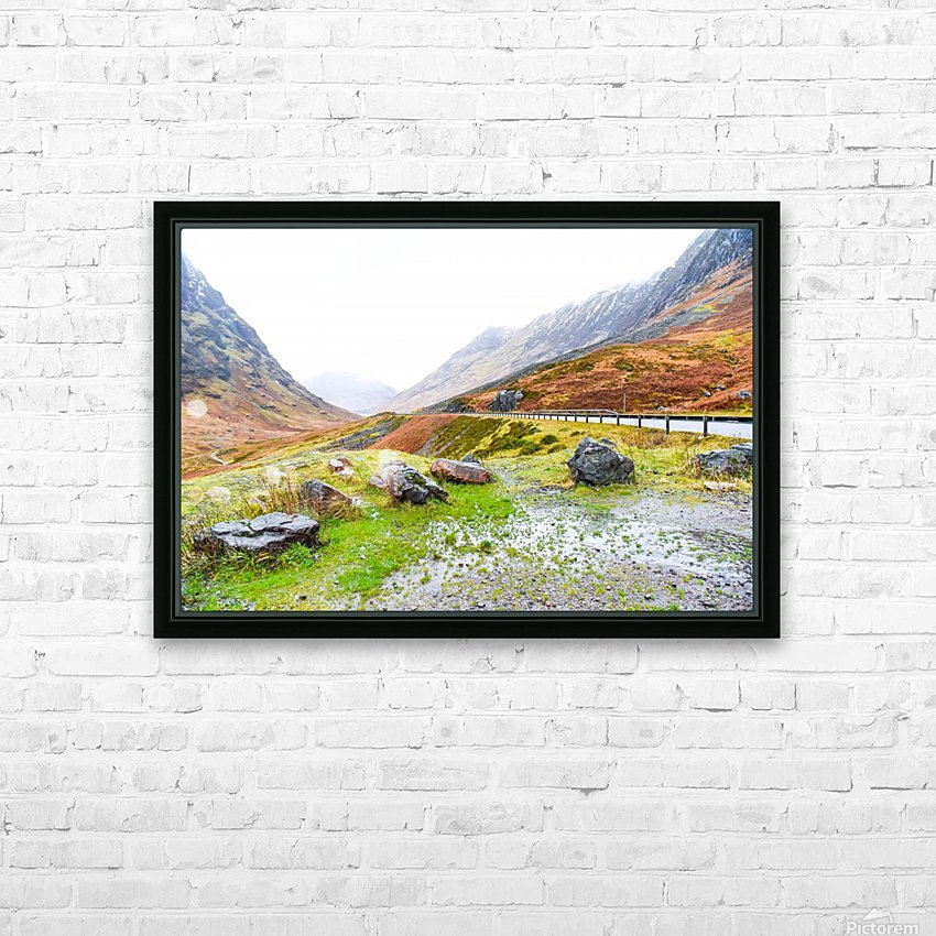 Glen Coe Scotland Highland United Kingdom HD Sublimation Metal print with Decorating Float Frame (BOX)
