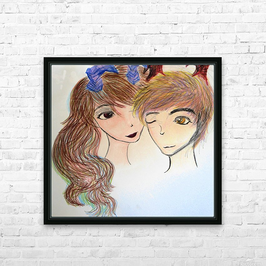 Dayfauncouplelove HD Sublimation Metal print with Decorating Float Frame (BOX)