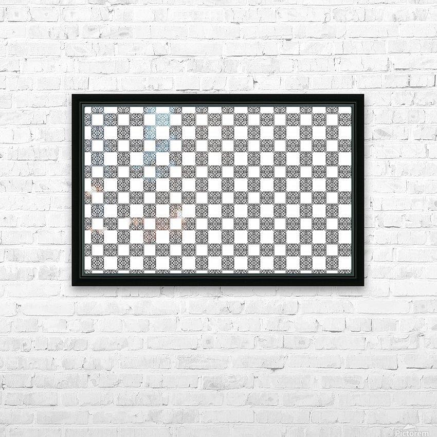 seamlesstilederivativepattern HD Sublimation Metal print with Decorating Float Frame (BOX)