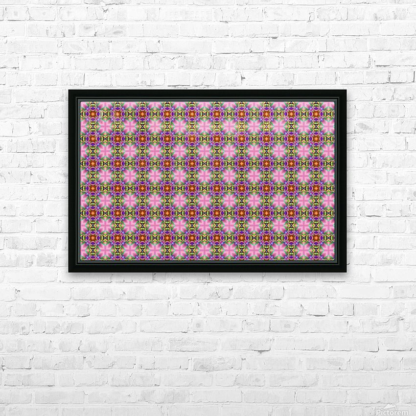 seamlesspsychedelicpattern HD Sublimation Metal print with Decorating Float Frame (BOX)