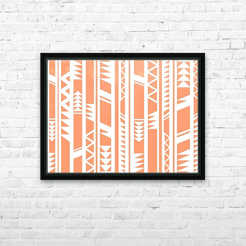 tribal pattern HD Sublimation Metal print with Decorating Float Frame (BOX)