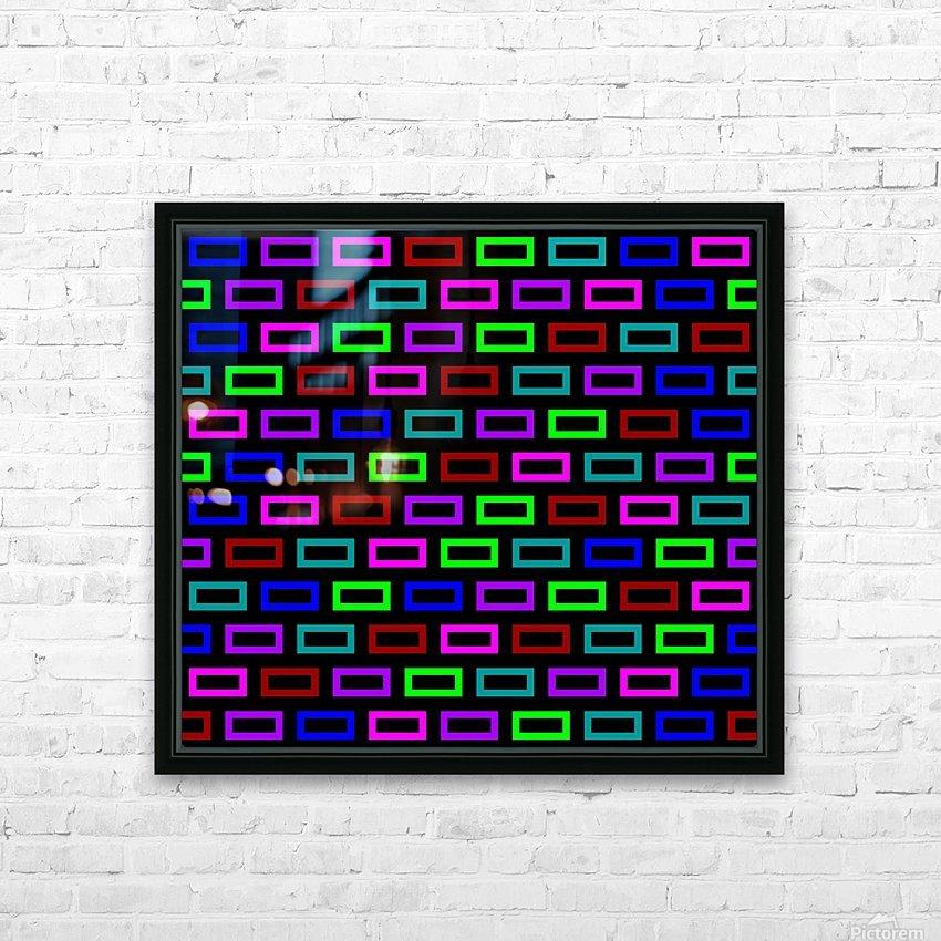 colourfulbrickspatterncolour HD Sublimation Metal print with Decorating Float Frame (BOX)
