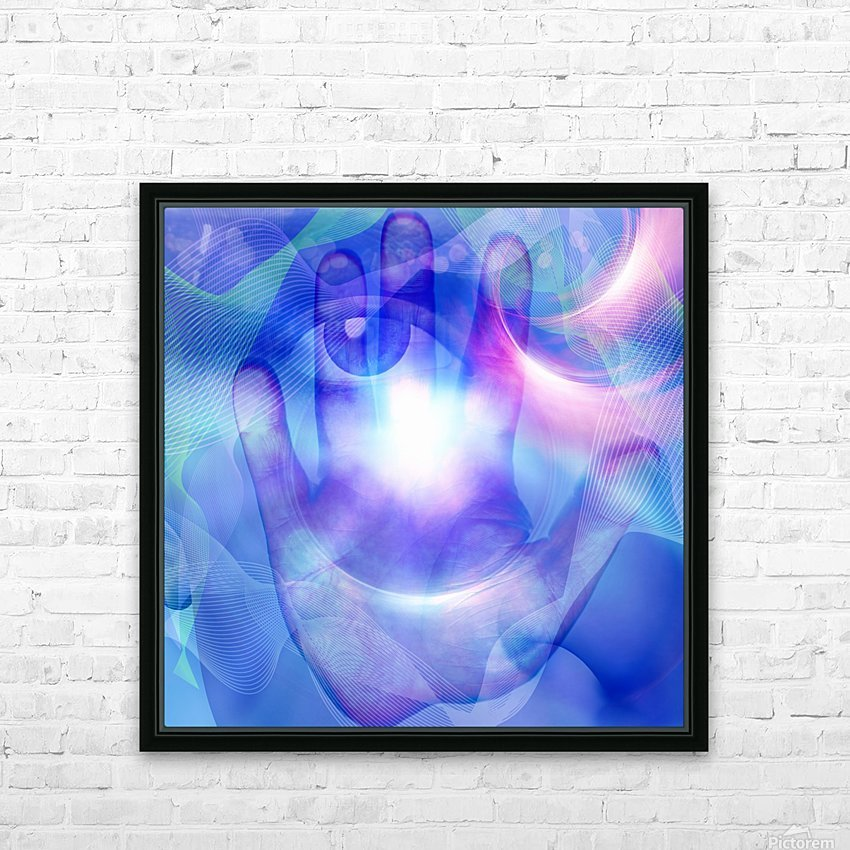 Human Eye and Palm HD Sublimation Metal print with Decorating Float Frame (BOX)