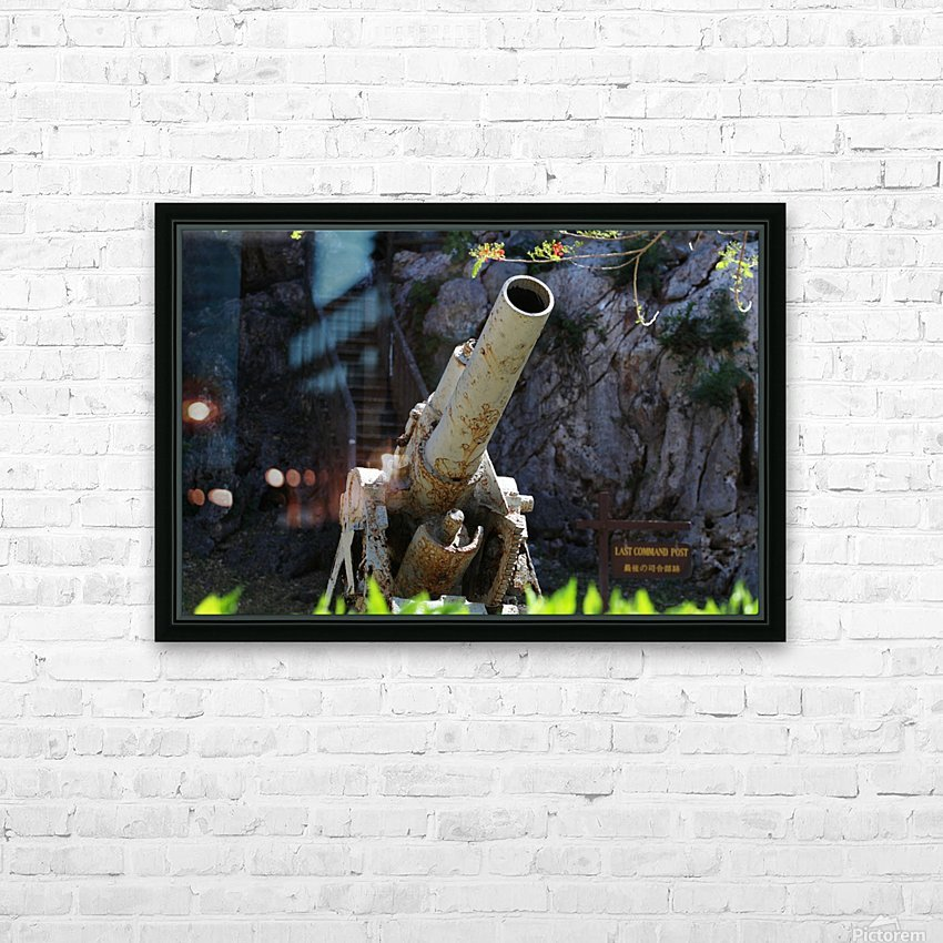 Old Japanese cannon  HD Sublimation Metal print with Decorating Float Frame (BOX)