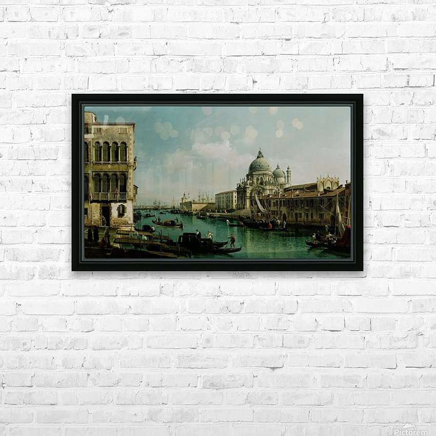 View of the Grand Canal and the Dogana HD Sublimation Metal print with Decorating Float Frame (BOX)