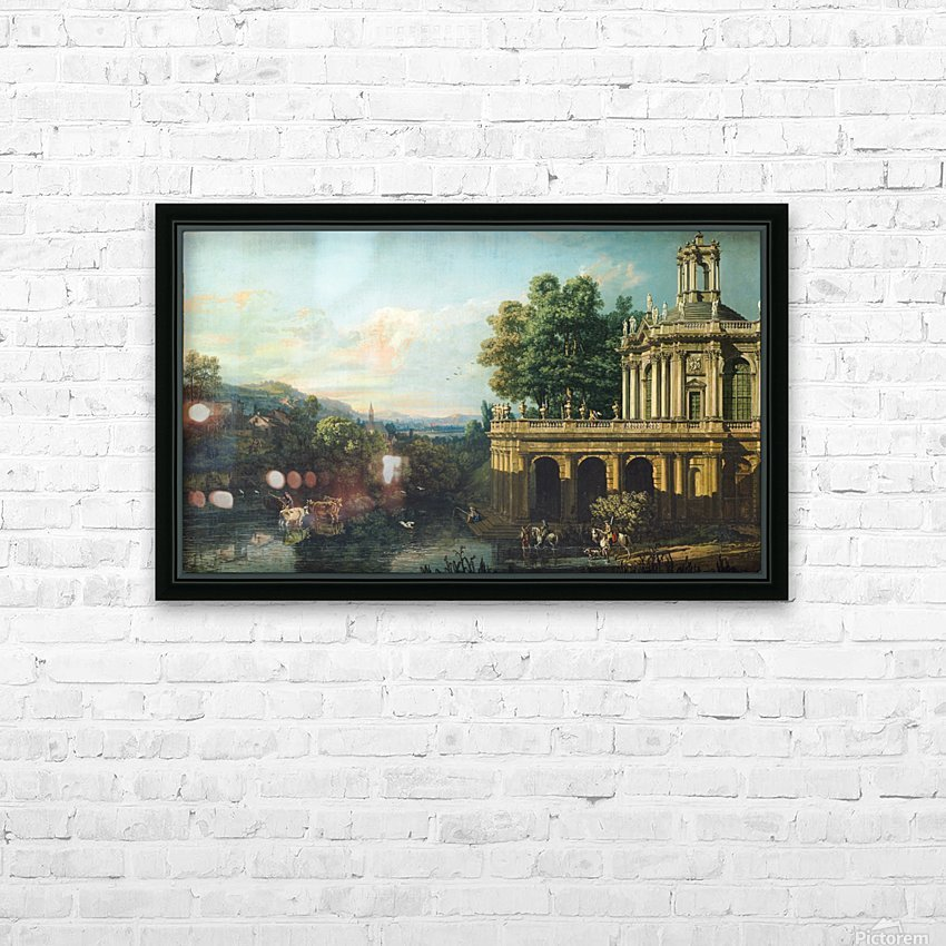 Architectural Caprice with a Palace HD Sublimation Metal print with Decorating Float Frame (BOX)