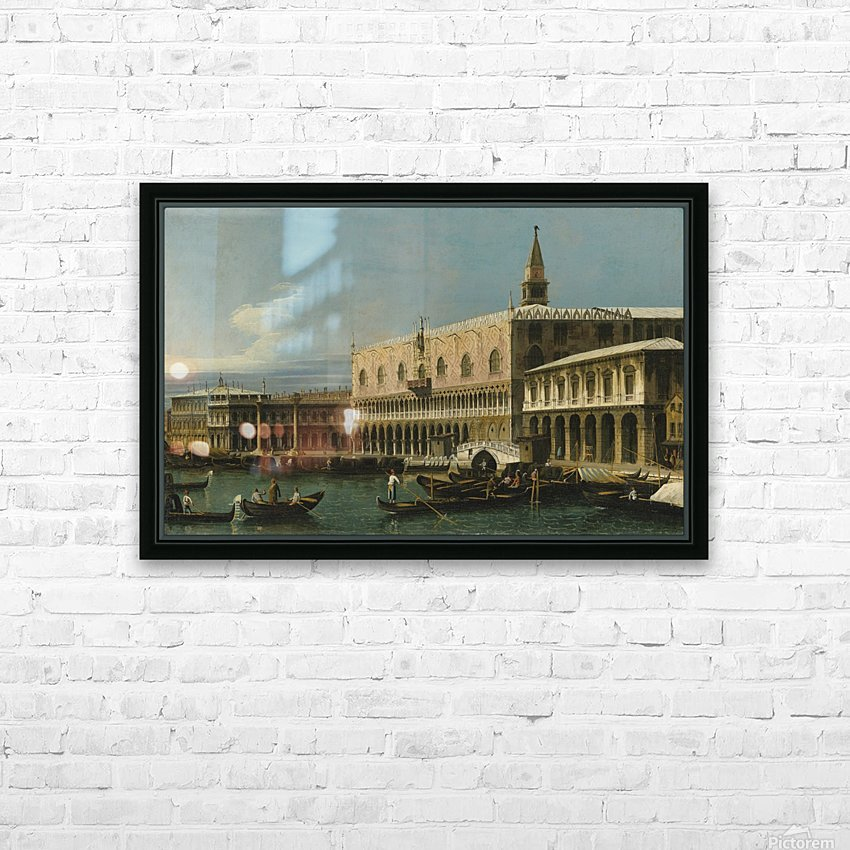 Venice, a view of the Molo, looking West, with the Palazzo Ducale and south side of the Piazzeta HD Sublimation Metal print with Decorating Float Frame (BOX)