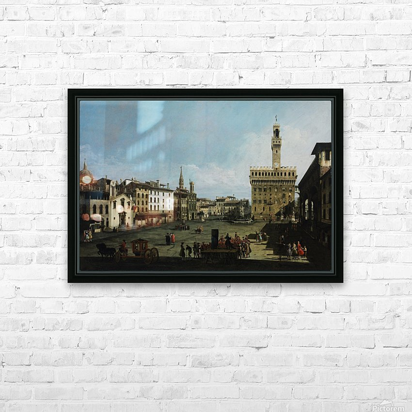 The Piazza della Signoria in Florence HD Sublimation Metal print with Decorating Float Frame (BOX)