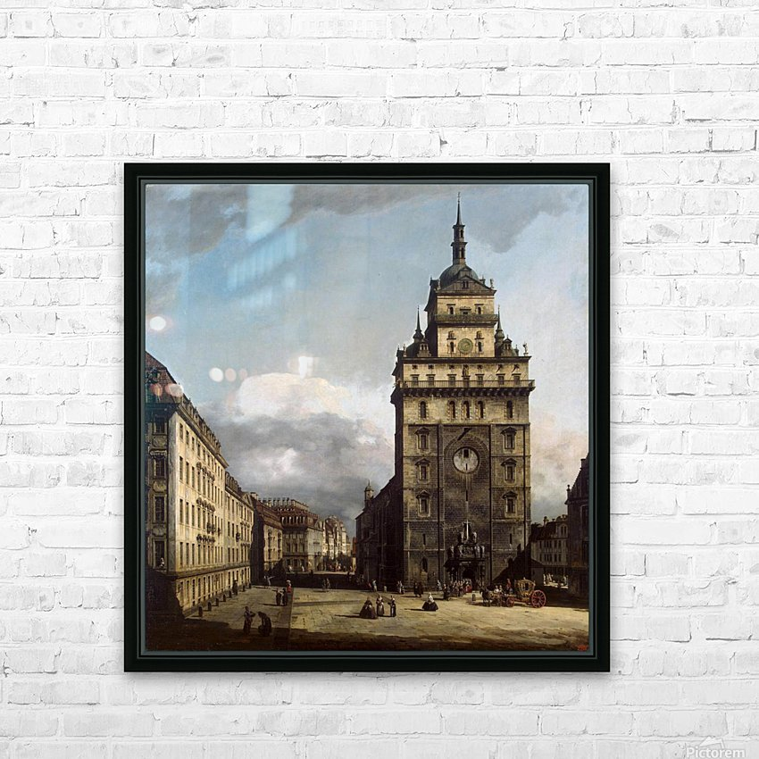 The Kreuzkirche in Dresden HD Sublimation Metal print with Decorating Float Frame (BOX)