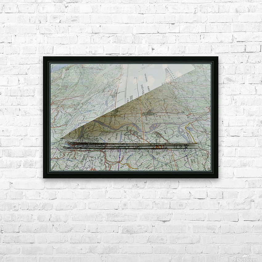 map navigation orientation drawing geography HD Sublimation Metal print with Decorating Float Frame (BOX)
