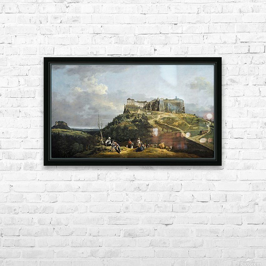 Festung Konigstein HD Sublimation Metal print with Decorating Float Frame (BOX)