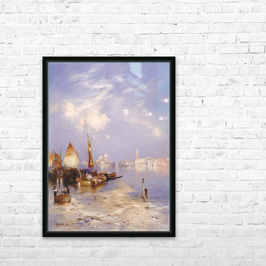 Entering Venice HD Sublimation Metal print with Decorating Float Frame (BOX)