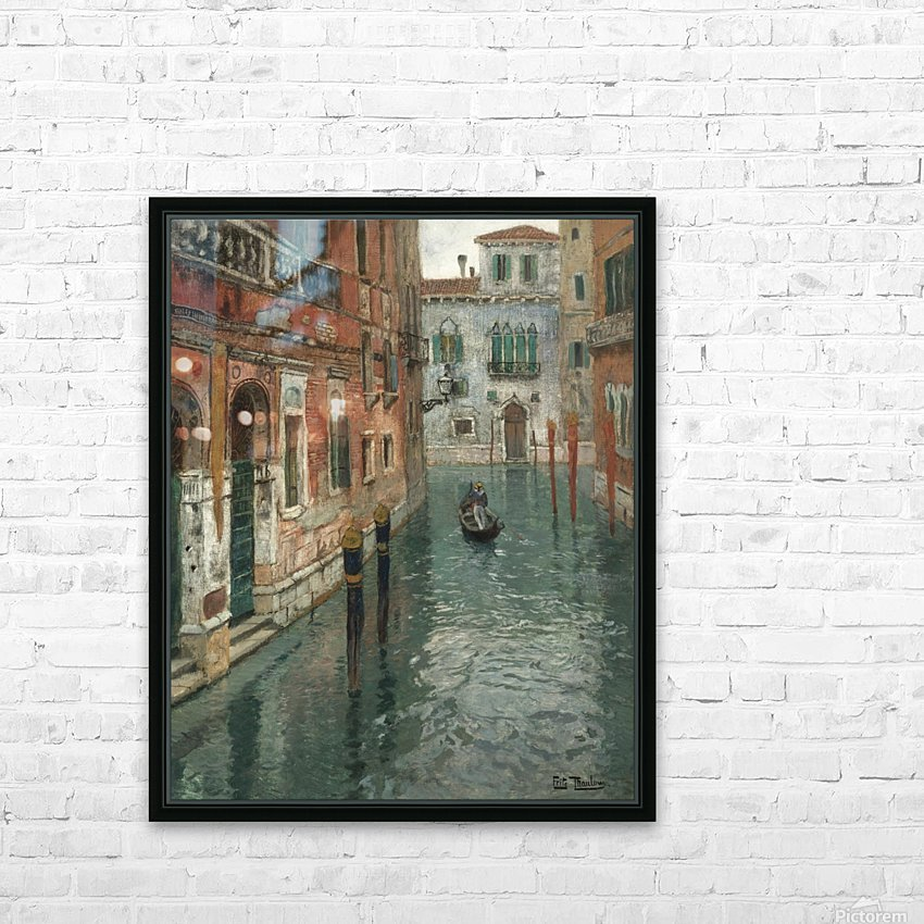 Along the canal in Venice HD Sublimation Metal print with Decorating Float Frame (BOX)