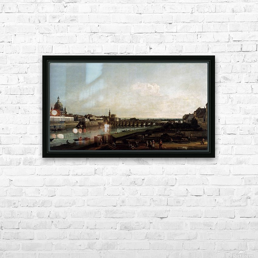 Dresden from the Right Bank of the Elbe, above the Augustusbrucke HD Sublimation Metal print with Decorating Float Frame (BOX)