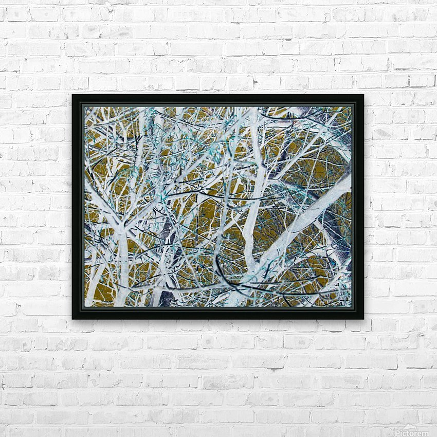 Funky Branches HD Sublimation Metal print with Decorating Float Frame (BOX)