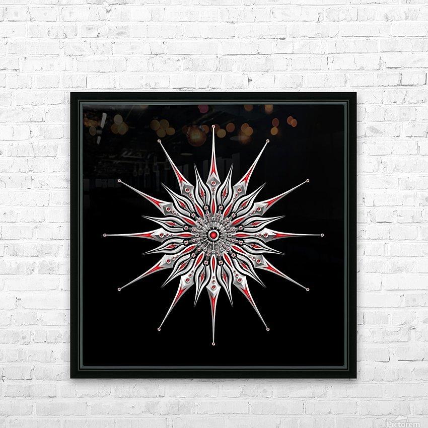 Starfish Fusion Mandala HD Sublimation Metal print with Decorating Float Frame (BOX)