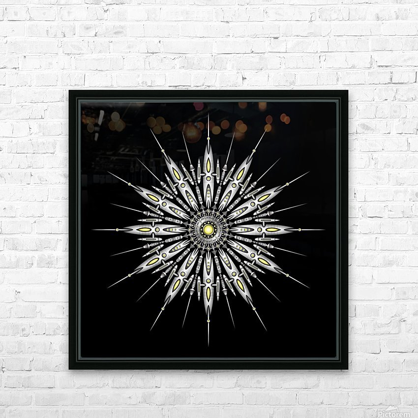Zyrconium Collider Mandala HD Sublimation Metal print with Decorating Float Frame (BOX)