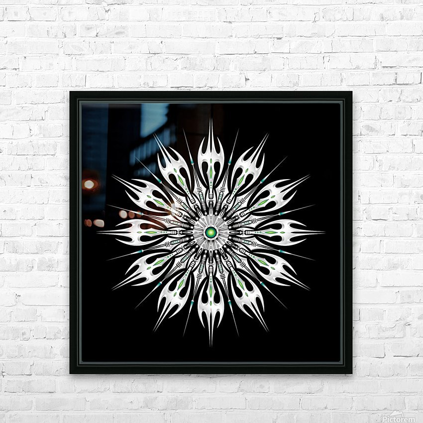 Absinthum Reactor Mandala HD Sublimation Metal print with Decorating Float Frame (BOX)
