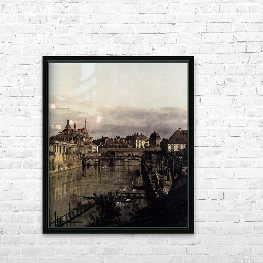 The Moat of the Zwinger in Dresden HD Sublimation Metal print with Decorating Float Frame (BOX)