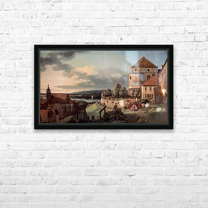 Landscape with castle and river HD Sublimation Metal print with Decorating Float Frame (BOX)