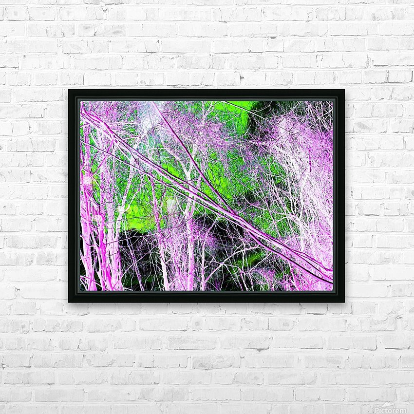 Tree on a Line HD Sublimation Metal print with Decorating Float Frame (BOX)