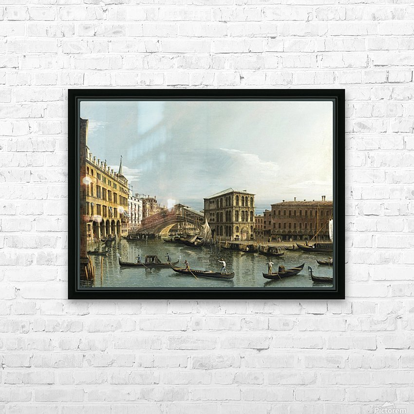 Venice. View of the Grand Canal with the Rialto Bridge, Seen from the North HD Sublimation Metal print with Decorating Float Frame (BOX)