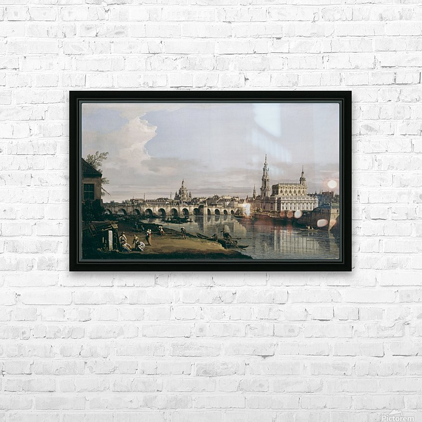 Dresden vom rechten Elbufer unterhalb der Augustusbrucke HD Sublimation Metal print with Decorating Float Frame (BOX)