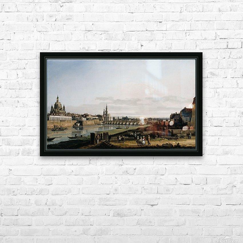 Dresden vom rechten Elbufer HD Sublimation Metal print with Decorating Float Frame (BOX)