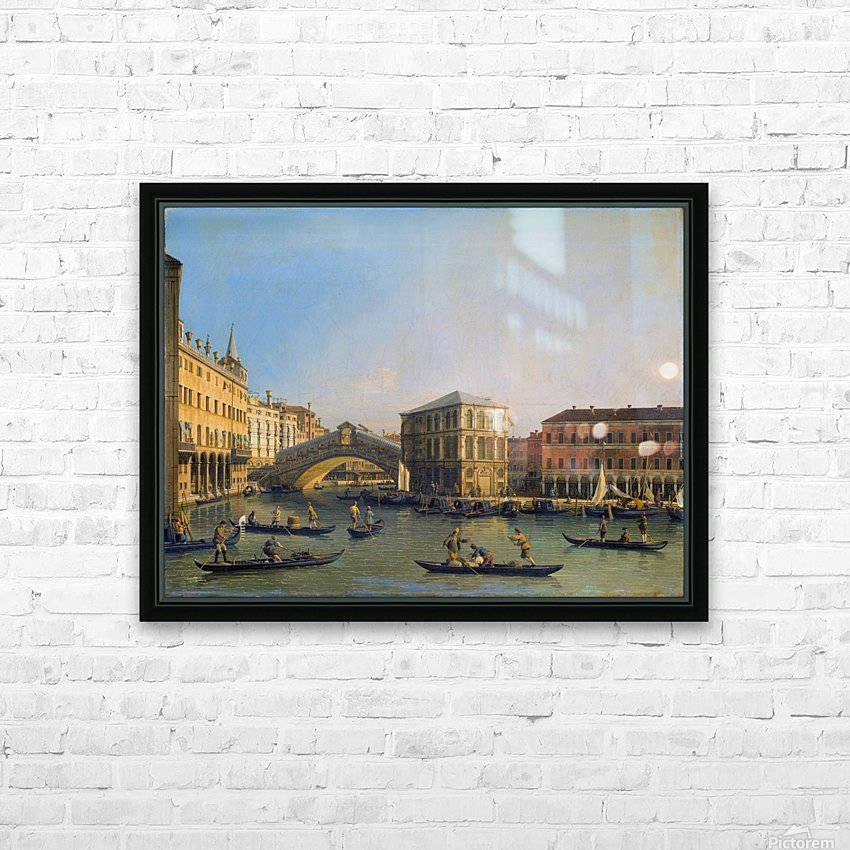Rialto Bridge Canaletto HD Sublimation Metal print with Decorating Float Frame (BOX)