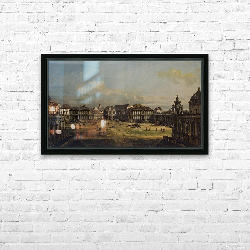 Zwinger in Dresden HD Sublimation Metal print with Decorating Float Frame (BOX)