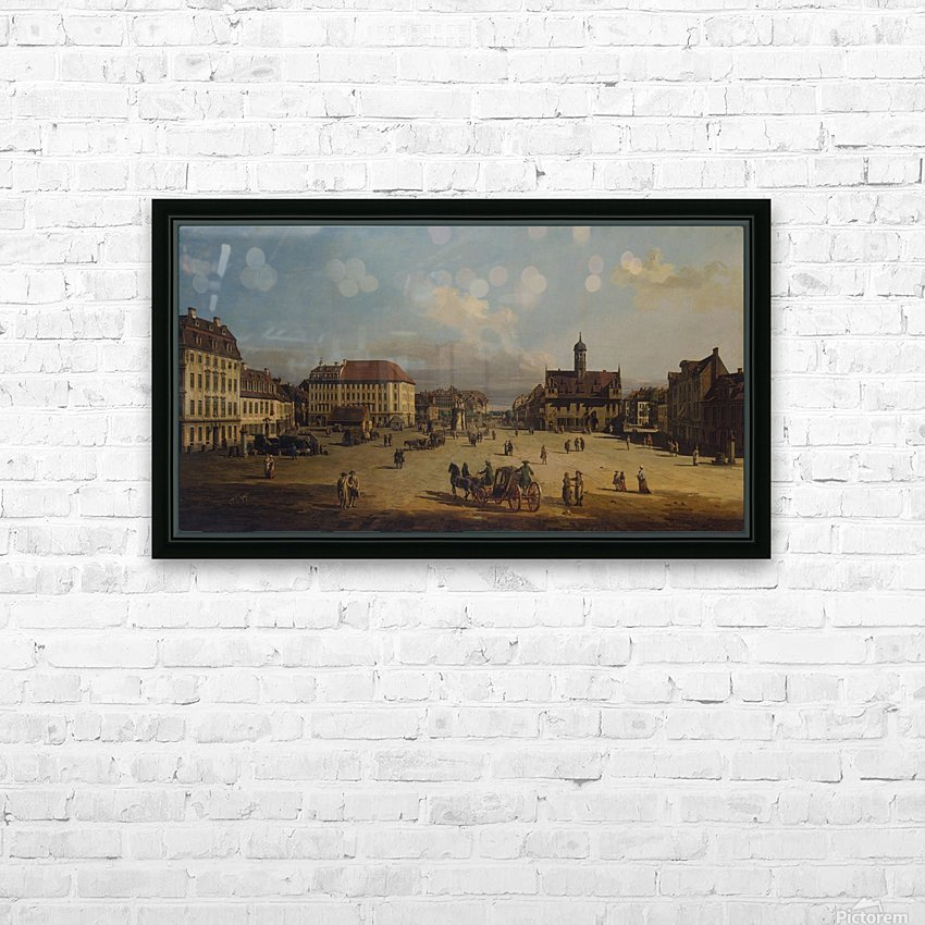 Dresden, Neustadt, Marktplatz mit Rathaus HD Sublimation Metal print with Decorating Float Frame (BOX)