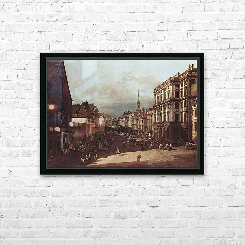 View of Vienna, flour market of Southwest seen from northeast HD Sublimation Metal print with Decorating Float Frame (BOX)