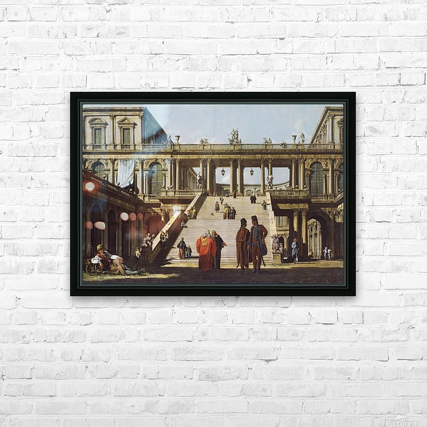 Street scene outside palace HD Sublimation Metal print with Decorating Float Frame (BOX)
