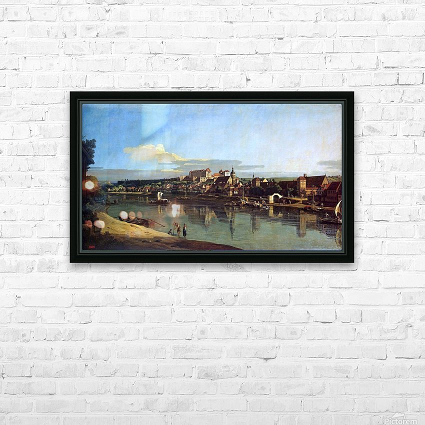 The Hermitage Museum. View of Pirna from Posta HD Sublimation Metal print with Decorating Float Frame (BOX)