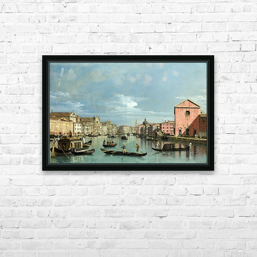 The Grand Canal facing Santa Croce HD Sublimation Metal print with Decorating Float Frame (BOX)