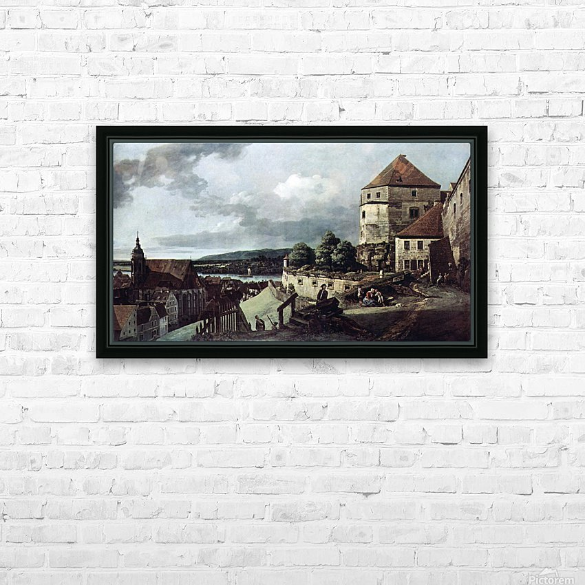 View from Pirna HD Sublimation Metal print with Decorating Float Frame (BOX)