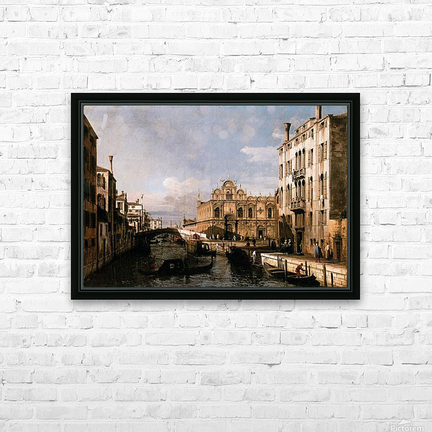 Rio dei Mendicanti with the Scuola di San Marco HD Sublimation Metal print with Decorating Float Frame (BOX)