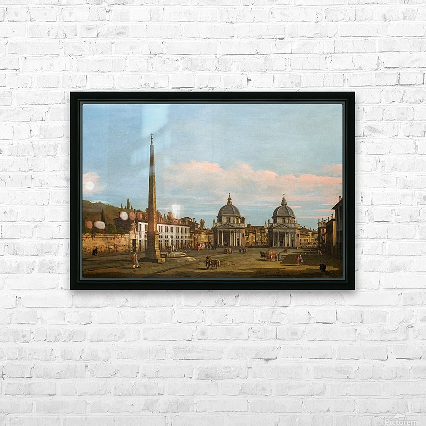 The Piazza del Popolo, Rome HD Sublimation Metal print with Decorating Float Frame (BOX)