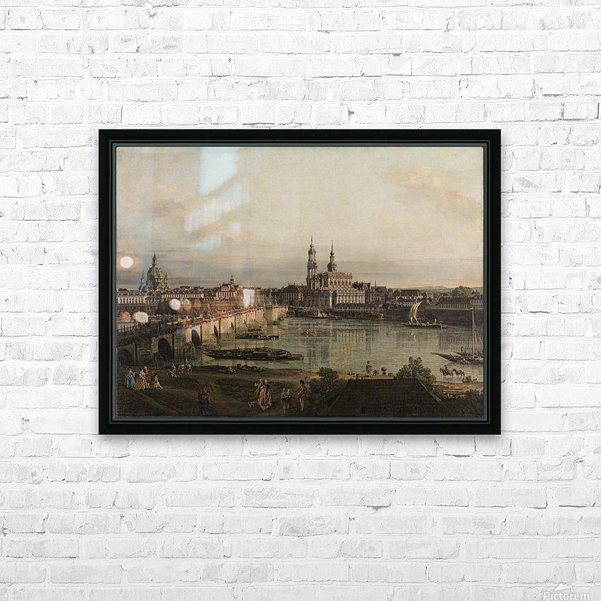 Dresden, die Altstadt Dresdens vom Neustadter Bruckenkopf HD Sublimation Metal print with Decorating Float Frame (BOX)