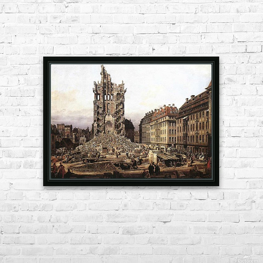 City ruins HD Sublimation Metal print with Decorating Float Frame (BOX)