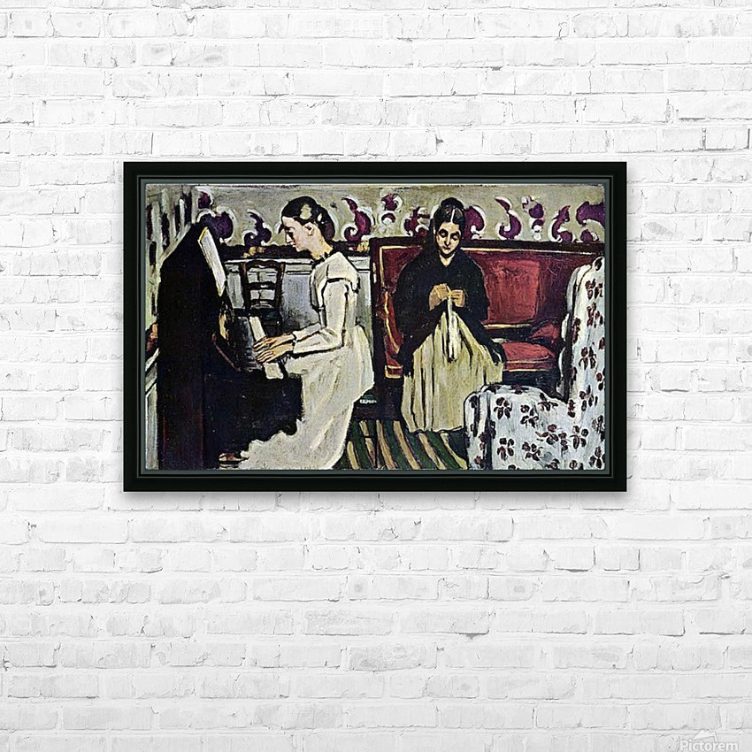 Girl at Piano by Cezanne HD Sublimation Metal print with Decorating Float Frame (BOX)