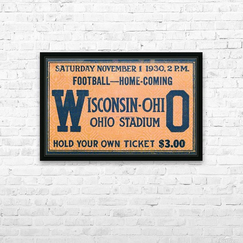 ticket stub metal sign osu buckeyes football vintage tickets wood prints HD Sublimation Metal print with Decorating Float Frame (BOX)